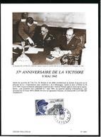 1639 - MARÉCHAL DE LATTRE DE TASSIGNY -37e Anniversaire De La Victoire - PARIS 08-05-1982 - Marcophilie (Lettres)