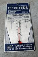 VAL Saint LAMBERT FLEMALLE SERAING PETERS  Plaque Publicitaire Thermomètre Radio TV Philips Novak Prisma Radiobell - Plaques Publicitaires