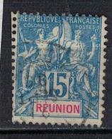 REUNION                 N°     YVERT   37            OBLITERE       ( Ob  5/10 ) - Oblitérés