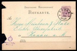 ALLEMAGNE. Carte Pré-timbrée Du N°37 Ayant Circulé En 1889. Oblitération : Pausa. - Deutschland