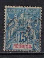 REUNION                 N°     YVERT   37    ( 1 )         OBLITERE       ( Ob  5/10 ) - Oblitérés
