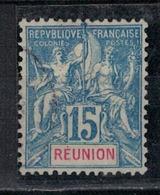 REUNION                 N°     YVERT   37    ( 2 )         OBLITERE       ( Ob  5/10 ) - Oblitérés