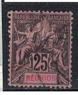 REUNION                 N°     YVERT   39        OBLITERE       ( Ob  5/10 ) - Oblitérés