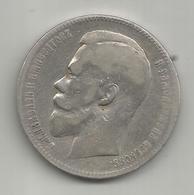 Russia, 1898, 1 Rublo Ag. Zar Nicola II. - Russia