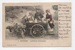 - CPA OSTENDE (Belgique) - Laitières Flamandes 1905 (belle Animation Avec Attelage De Chiens) - Edition Le Bon N° 8 - - Oostende
