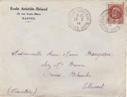 517 (Pétain) Sur Lettre Du 29 Février 1944 (année Bissextile) - Marcophilie (Lettres)
