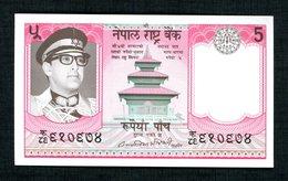 Nepal  5 Rupées  1974  Neuf - Népal