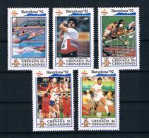 Grenada/Grenadinien 1992 Olympia Mi.Nr. 1535/36/39/41/44 ** - Grenada (1974-...)