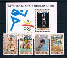 Grenada 1992 Olympia Mi.Nr. 2441/42/43/47 + Block 310 ** - Grenada (1974-...)