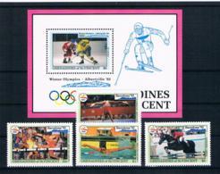 St. Vincent/Grenadinien 1992 Olympia Mi.Nr. 933/35/40/43 + Block 108 ** - St.Vincent Und Die Grenadinen
