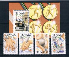 Tuvalu 1992 Olympia Mi.Nr. 633/36 Kpl. Satz + Block 43 ** - Tuvalu (fr. Elliceinseln)