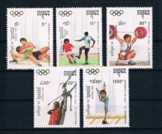 Kambodscha 1992 Olympia Mi.Nr. 1267/71 Kpl. Satz ** - Kambodscha