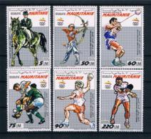 Mauretanien 1990 Olympia Mi.Nr. 970/75 Kpl. Satz ** - Mauretanien (1960-...)