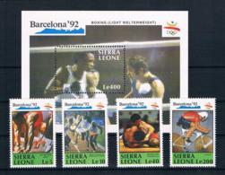 Sierra Leone 1990 Olympia Mi.Nr. 1509/10/13/16 + Block 137 ** - Sierra Leone (1961-...)