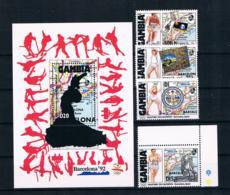 Gambia 1992 Olympia Mi.Nr. 1320/21/22/25 + Block 145 ** - Gambia (1965-...)