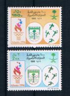 Saudi-Arabien 1996 Olympia Mi.Nr. 1250/51 Kpl. Satz ** - Arabia Saudita