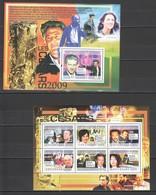 T272 2009 GUINEE GUINEA FAMOUS PEOPLE ACTORS CESARS FILM FESTIVAL 1KB+1BL MNH - Acteurs