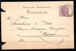 ALLEMAGNE. Carte Pré-timbrée Du N°37 Ayant Circulé En 1889. Oblitération : Furtwangen. - Deutschland