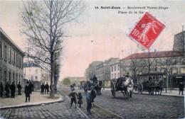 France - 93 - Saint-Ouen - Boulevard Victor-Hugo - Place De La Gare - 3 Attelages - Saint Ouen