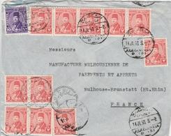 Egypte Lettre Alexandria Pour La France 1950 - Egypt