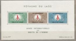 LAOS 1968 Human Rights MNH (**) Mi Bl. 44 #24853 - Laos