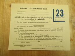 Tweede Wereldoorlog Aanvraag Bevoorrading Schoeisels - Documents Historiques