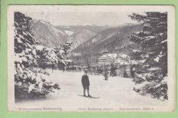 SEMMERING, Wintersportplatz : Hôtel Erzherzog Johann. Skieur.  2 Scans. Edition Ledermann - Semmering