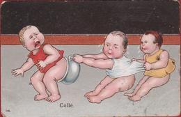 Bébés Multiples Bébé Pot De Chambre Pispot Fantasie Kaart Fantaisie Carte 1907 Eschatologie Eschatology - Bébés
