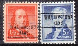 USA Precancel Vorausentwertung Preo, Locals Kansas, Williamstown 748, 2 Diff. - Vereinigte Staaten