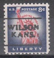 USA Precancel Vorausentwertung Preo, Locals Kansas, Wilson 701 - Vereinigte Staaten