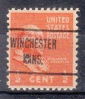 USA Precancel Vorausentwertung Preo, Locals Kansas, Winchester 723 - Vereinigte Staaten