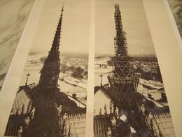 RESTAURATION DE LA FLECHE DE NOTRE DAME DE PARIS - Photographs