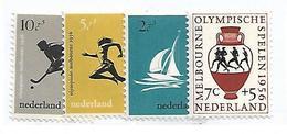 OLA036 - 1956 OLIMPIADI DI MELBOURNE - SERIE DELL'OLANDA 654/57 -  SERIE COMPLETA  - NUOVO - Estate 1956: Melbourne