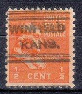 USA Precancel Vorausentwertung Preo, Locals Kansas, Winfild 631 - Vereinigte Staaten