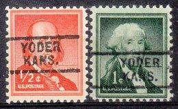 USA Precancel Vorausentwertung Preo, Locals Kansas, Yoder 729, 2 Diff. - Vereinigte Staaten