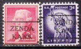 USA Precancel Vorausentwertung Preo, Locals Kansas, Zenda 716, 2 Diff. - Vereinigte Staaten