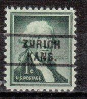 USA Precancel Vorausentwertung Preo, Locals Kansas, Zurich 729 - Vereinigte Staaten