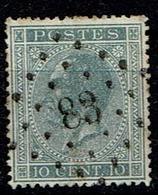 17A  Obl  83 Ciney + 3 - 1865-1866 Profil Gauche