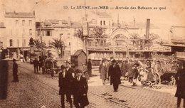 83 LA SEYNE SUR MER ARRIVEE DES BATEAUX AU QUAI BELLE ANIMATION - La Seyne-sur-Mer