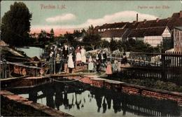 ! Alte Ansichtskarte Parchim In Mecklenburg, Elde, Schleuse, Bahnpoststempel Ludwigslust 1911 - Parchim