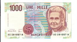 1000 LIRE Maria Montessori SERIE Sostitutiv Xe.....a Q.FDS  LOTTO 2708 - [ 2] 1946-… : Repubblica