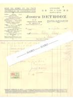 Facture De Joseph DETROOZ , Bois, Matériaux De Construction, Quicaillerie,...à BOMAL Sur OURTHE En 1935 (b258) - Belgique