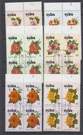 Cuba 1978 Orchids 6v Bl Of 4 Used (cto) (44145) - Cuba