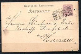 ALLEMAGNE. Carte Pré-timbrée Du N°37 Ayant Circulé En 1887. Oblitération : Mühlhausen. - Cartas