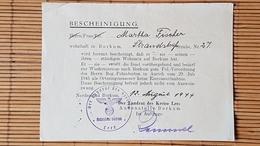 Bescheinigung Wohnsitz Borkum,  1941 - Dokumente