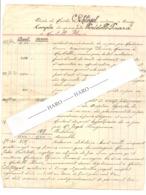 Feuille De Compte Du Notaire SCHLÖGEL De CINEY En 1928 - Famille Portelle De Maibelle Florée (b258) - Manuscrits
