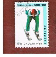 GUINEA BISSAU - SG 1010  -    1988 WINTER OLYMPIC GAMES: SKI JUMPING    - USED ° - Guinea-Bissau