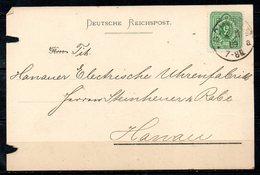 ALLEMAGNE. N°36 Sur Carte Ayant Circulé En 1889. Oblitération : Schwelm. - Briefe U. Dokumente