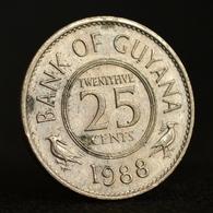 Guyana 25 Cents. South America Coin. Km34 Random Age. - Guyana