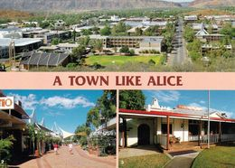 1 AK Australien Northern Territory (NT) * Alice Springs Township, Todd Mall, Panorama Guth * - Alice Springs